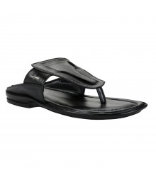 Cefiro Black Slipper for Men - CSP0020